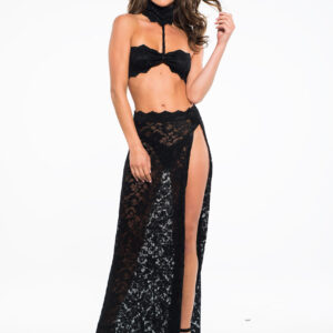 Allure Adore See through me, lace bandeau top & skirt A1033