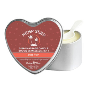Earthly Body Hemp Seed Spice It Up 3 in 1 Massage Candle