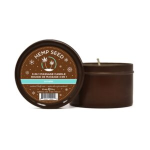 Earthly Body Hemp Seed Holiday Shivers 3 in 1 Massage Candle 6 oz