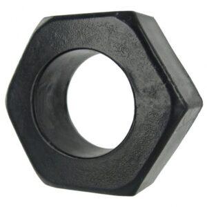 HexNut Cock Ring - Black AC480