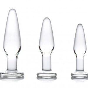 Prisms Dosha 3 Piece Glass Anal Plug Kit AE599