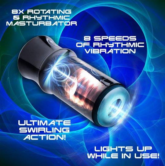 Beat It 8X Rotating and Rhythmic Masturbator AE750