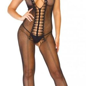 Black Crotchless Fishnet Stocking AG597