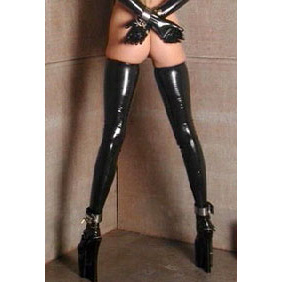 Latex Thigh-High Stockings- Medium DE106-M
