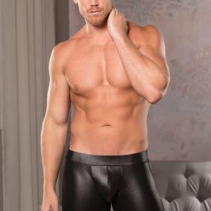 Allure Men's Wet Look 33-7602 Cut-A-Way Shorts