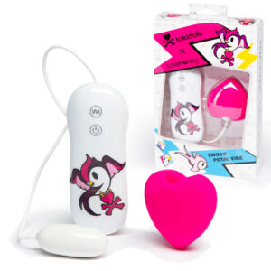 Tokidoki Pink Heart Clitoral Vibe Silicone 3 Speed 4 Function