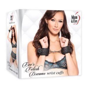 A&E Eve's Fetish Dreams Wrist Cuffs Black