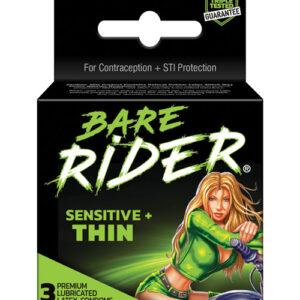 Contempo Bare Rider Thin Condom Pack - Pack of 3