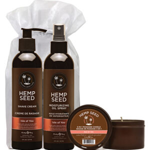 Earthly Body Summer Care Moisturizing Kit EB-HSSMK052- Isle of You Candle, Oil Spray & Shave Cream
