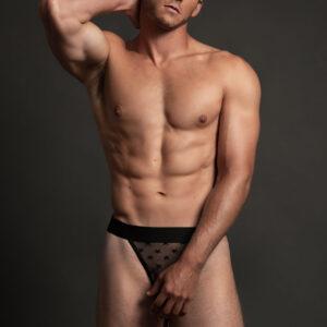 Allure Men's Luca L011 Sheer Star Thong
