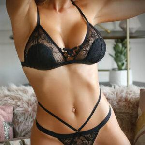Fantasy Lingerie V752 Sweet Spot Lace Up Bra & Panty