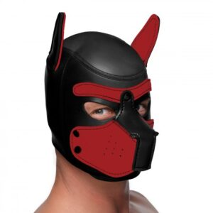 Spike Neoprene Puppy Hood - Red