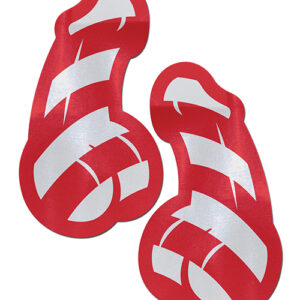 Pastease Candy Cane Dicks - Red & White O/S Pasties