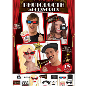 At The Movies Photo Booth Prop Kit - Set of 18 pc
