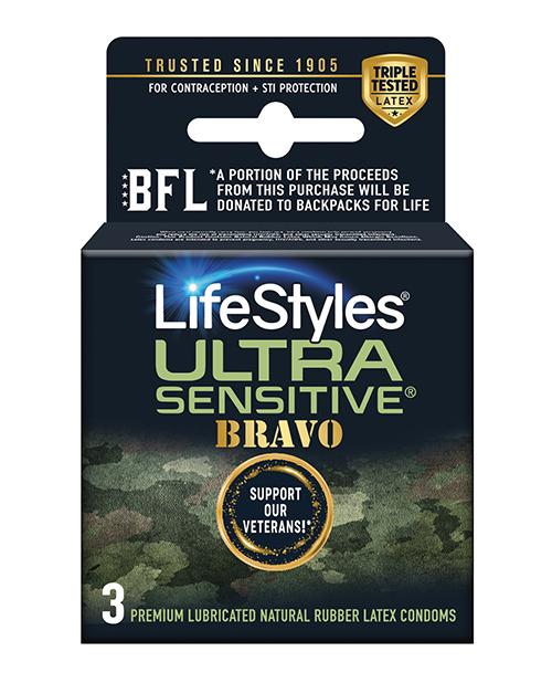 Lifestyles Ultra Sensitive Bravo - Pack of 3