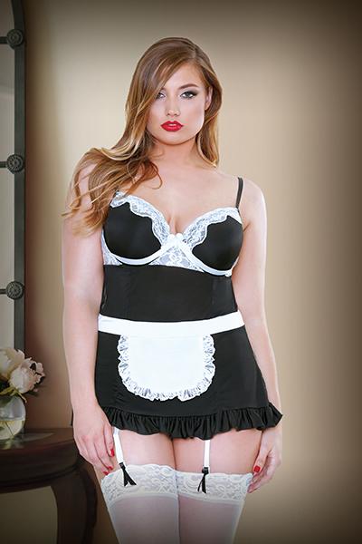 Fantasy Lingerie Curve Night Service Maid Costume P161