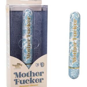 CalExotics Naughty Bits Mother Fucker Personal Vibrator - Blue