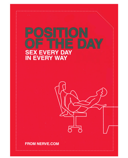 Position of the Day Sex Every Day in Every Way Book From Nerve.com