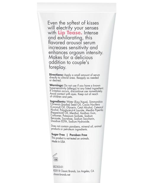 CGC Lip Tease Kissable Stimulant - 1 oz Electric Mint