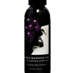 Earthly Body Edible Massage Oil - 2 oz Grape