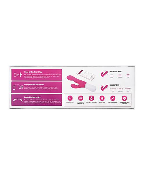 Lovense Nora Rotating Head Rabbit - Pink LOV3582
