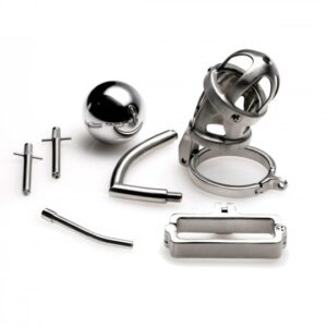 Master Series The Deluxe Extreme Chastity Cage with Accessories AC862