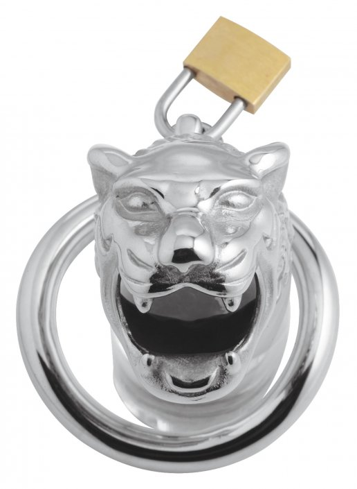 Master Series Tiger King Locking Chastity Cage AG599